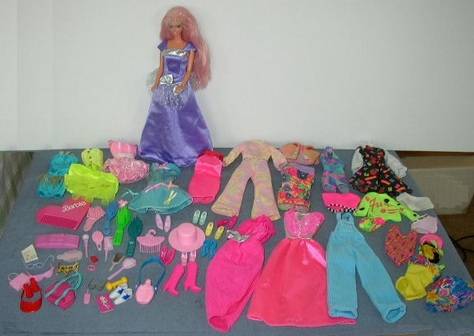 Barbie Doll with 57-Piece Clothing & Accessories