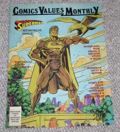Comics Values Monthly - Superman Memorial Issue