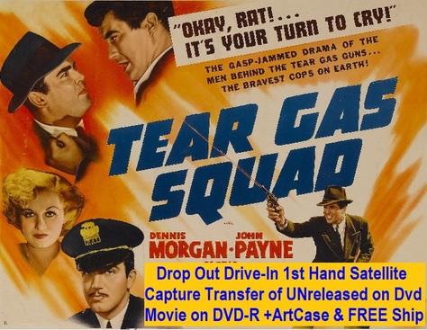 """""""Tear Gas Squad"""" (1940)(DVD-R)"""