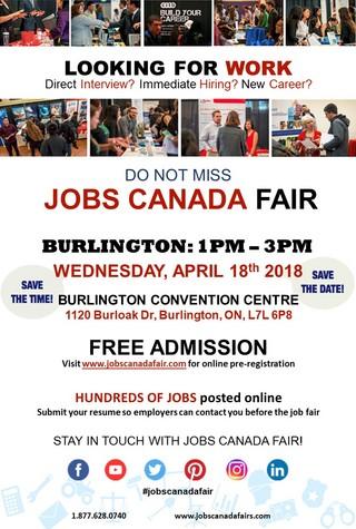 Burlington Job Fair - April 18th, 2018