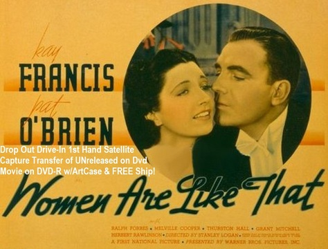 """""""Women Are Like That"""" (1938)(DVD-R)"""