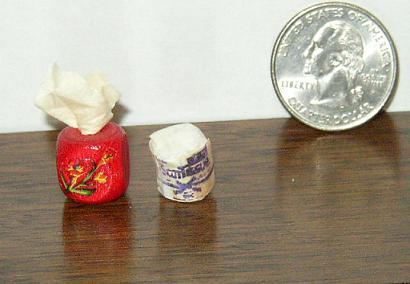 Miniature Dollhouse Kleenex Box & Scott TP