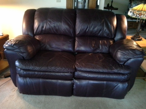 Comfortable double recliner loveseat
