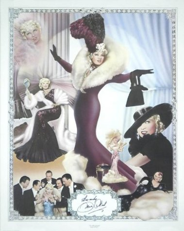 Mae West autographed poster 1170 of 2000