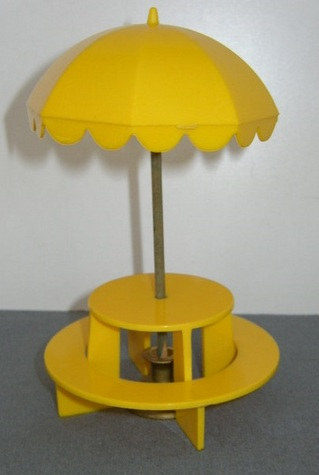 "Yellow ""Ideal"" Picnic Table"
