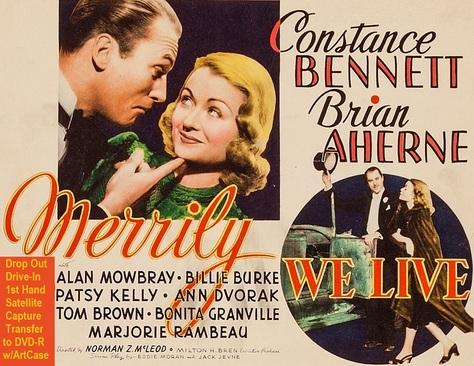 """Merrily We Live"" (1938){DVD-R}"