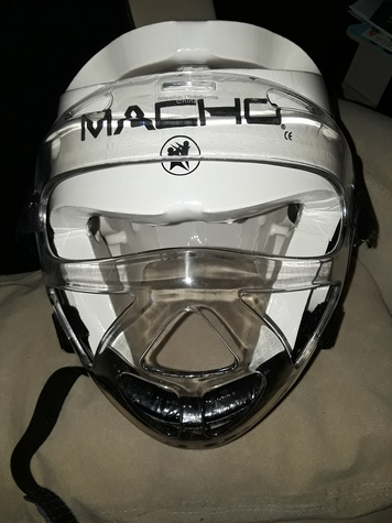 Helmet with full face shield