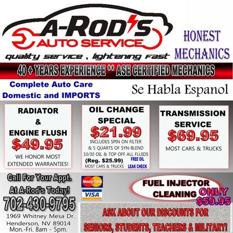A-ROD'S AUTO SERVICE