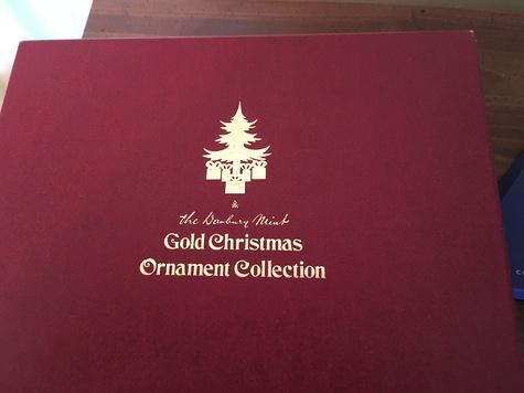 Danbury Mint 23K Gold Plated Christmas Ornaments