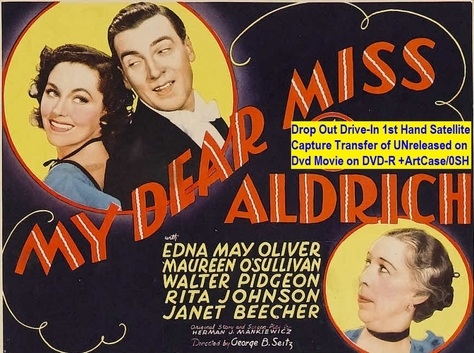 """My Dear Miss Aldrich"" (1937){DVD-R}"