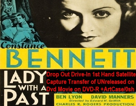 """""""Lady With a Past"""" (1932){DVD-R}"""