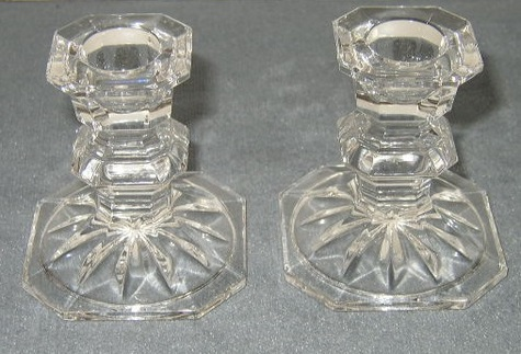 Mikasa Crystal, Tapered, Candlestick Holders