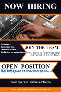 Available job openings