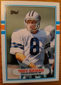 1989 Topps Traded #70T Troy Aikman Rookie Card COWBOYS HOF RC!