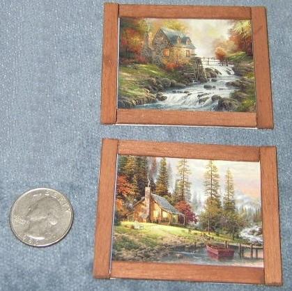 Set of 2 - Hand-Made, Framed, Thomas Kinkade Pics