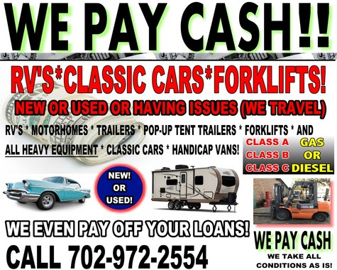 GET CASH ON THE SPOT - WE HAUL AWAY FOR FREE!