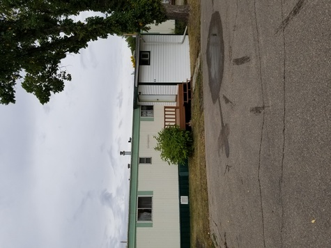 Front view of mobile home