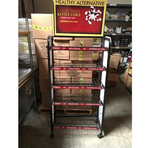 Black 5 shelf rack on wheeles