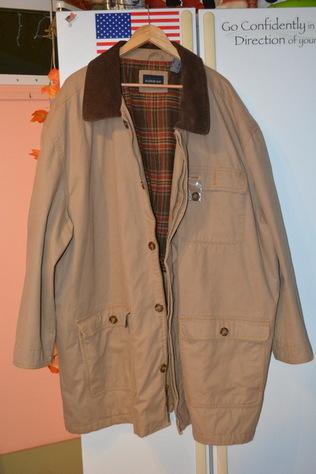 Coat front view