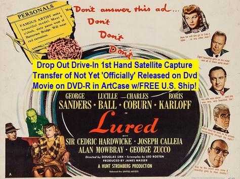 """Lured"" (1947){DVD-R}"