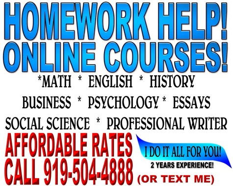 HOME WORK HELP, ESSAYS, TESTING, OVER 30 COURSES