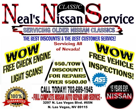 ALL OLDER NISSAN CARS AND TRUCK REPAIR AND COMPLETE AUTO SVCS.