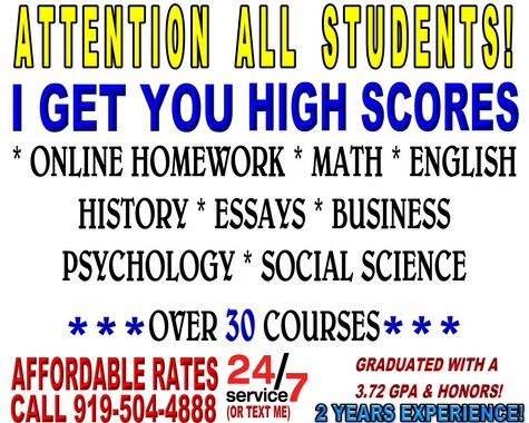 HELP WITH HOMEWORK, ESSAYS, WRITING, TESTING, GET HIGH SCORES