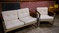 2 seater aluminum couch and matching chair