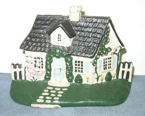 Wrought Iron Cottage Doorstop