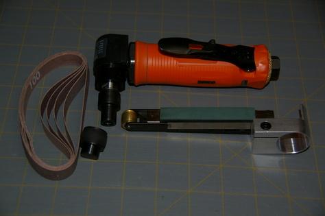 Grinder with Conversion belt sander + 5 belts