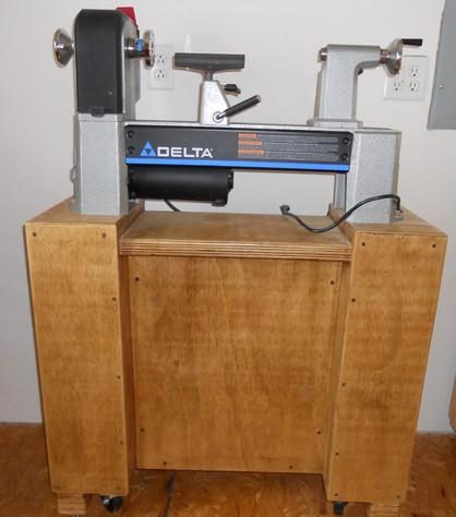 Wood Lathe+Cabinet