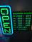 Store Open Daily Hours Green Led Sign