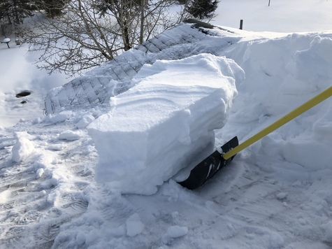 Get that heavy snow off roofs before to late