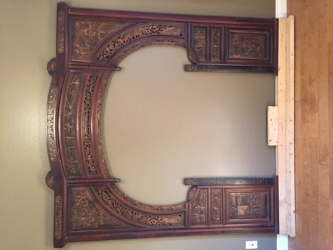Chinese headboard carved