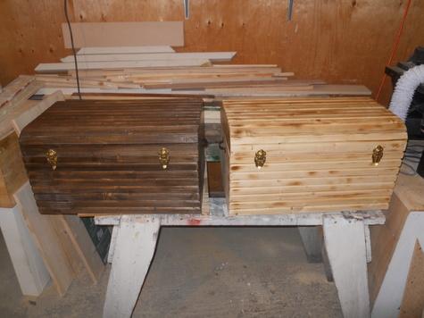 1 clear wood  1 dark walnut