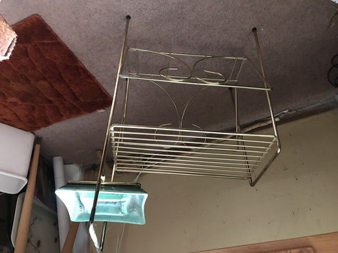 Magazine stand with ashtray