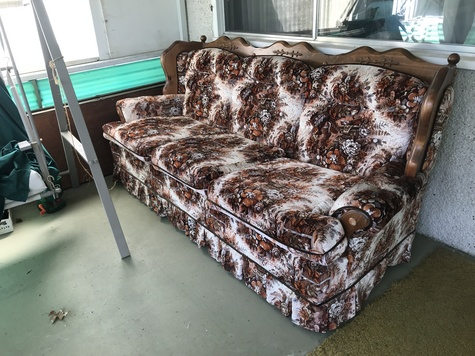Floral print couch