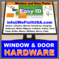 Window and Door Service Parts - Marvin Hurd Caradco JeldWen
