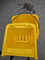 Moppe Bucket with Wringer, used, Yellow on wheels - $70 (Etobico