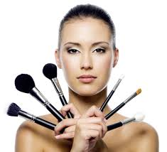 lady with make up brushes