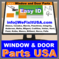 Window and Door Hardware - All Brands All Parts Free ID