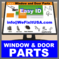 Window and Door Parts - Eagle, Hurd, Kolbe, Lincoln, M-W, Malta
