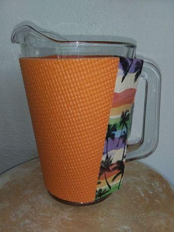 Orange PitcherKoozy with Tropical Trim