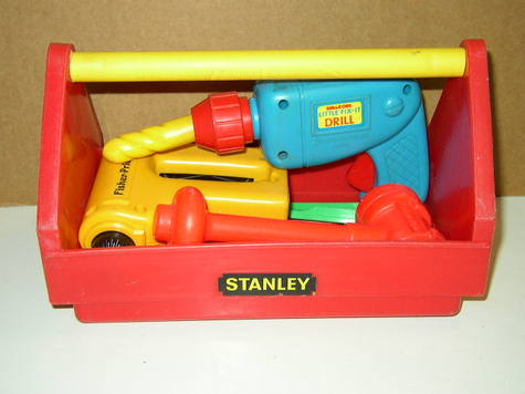 1988 Playtime Products. Stanley Toy Tool Box
