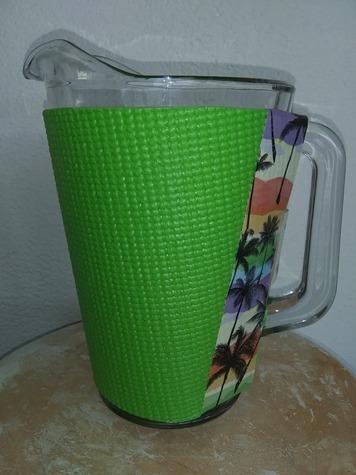 Lime Green PitcherKoozy with Tropical Trim