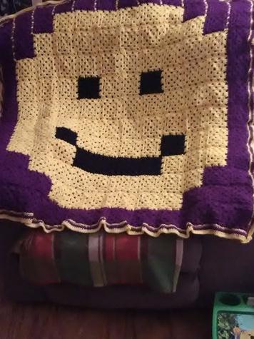 Childrens Smiley Face Blanket