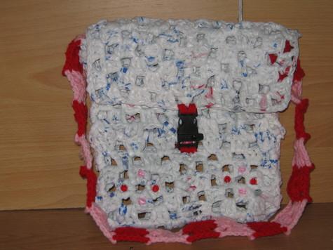 Hand Crocheted Plastic Bag Purse 3