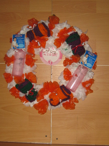 It's A Girl Baby Shower Wreath 3