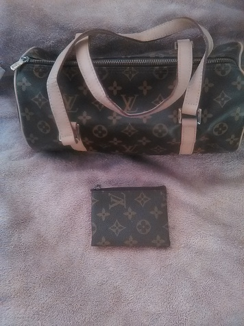 LV purse and change pouch