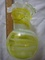 Estate Vintage Retro Rare Lime Green Streaked Pulled Glass